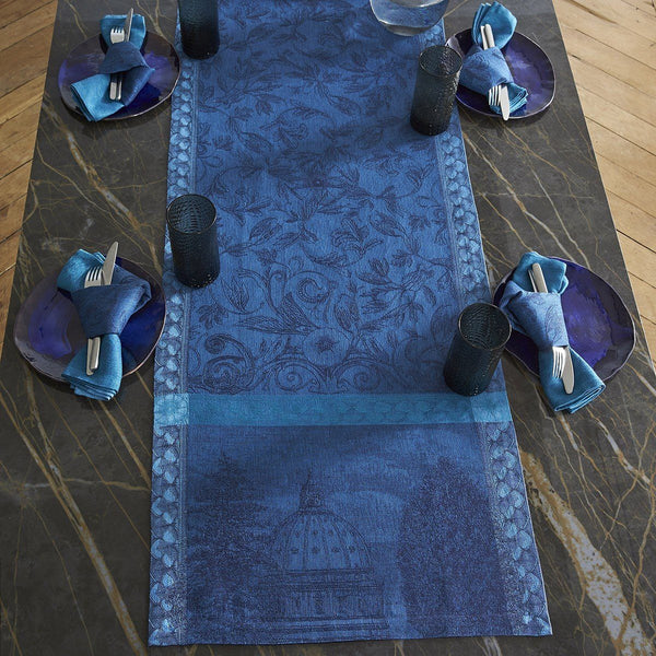 Fig Linens - Le Jacquard Francais - Symphonie Baroque Dusk Table Runner