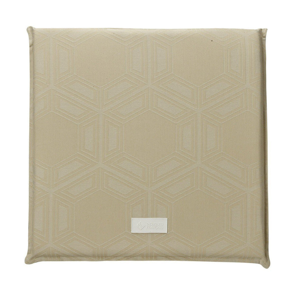 Fig Linens - Le Jacquard Francais Outdoor Collection - Syracuse Beige Outdoor Cushion