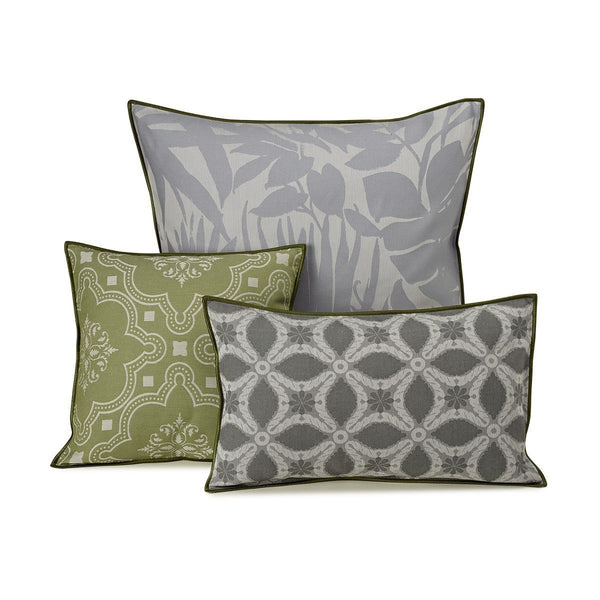 Le Jacquard Francais - Bahia City Gray Outdoor Pillow Collection | Fig Linens