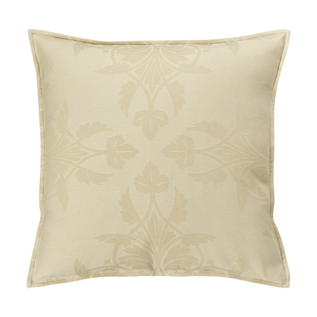 Fig Linens - Le Jacquard Francais Outdoor Collection - Syracuse Beige 16x16 Pillow