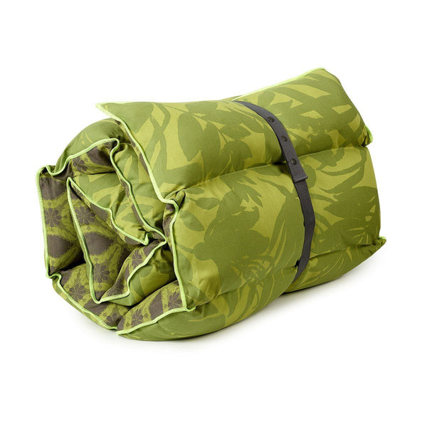 Fig Linens - Le Jacquard Francais - Bahia Jungle Green Sun Lounger Cushion