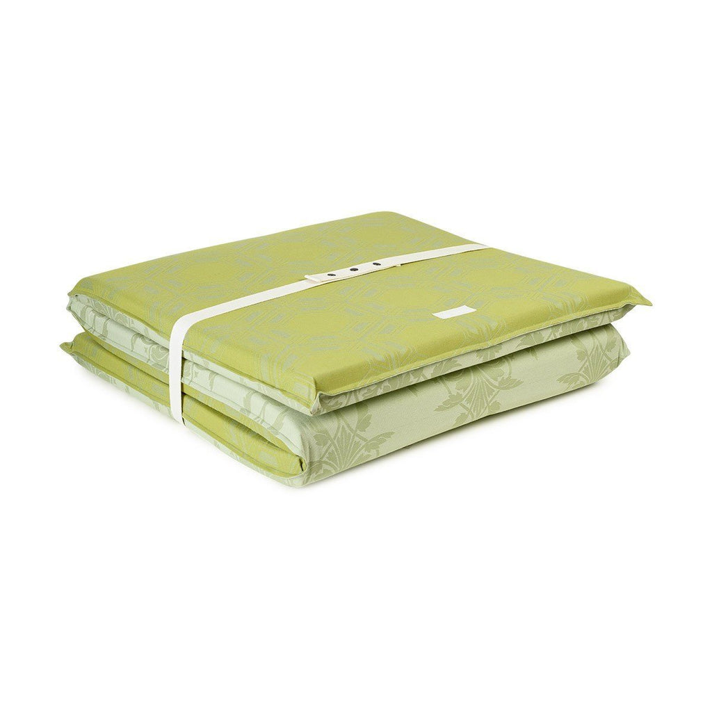 Fig Linens - Le Jacquard Francais Outdoor Collection - Syracuse Green Pool Lounger Mattress