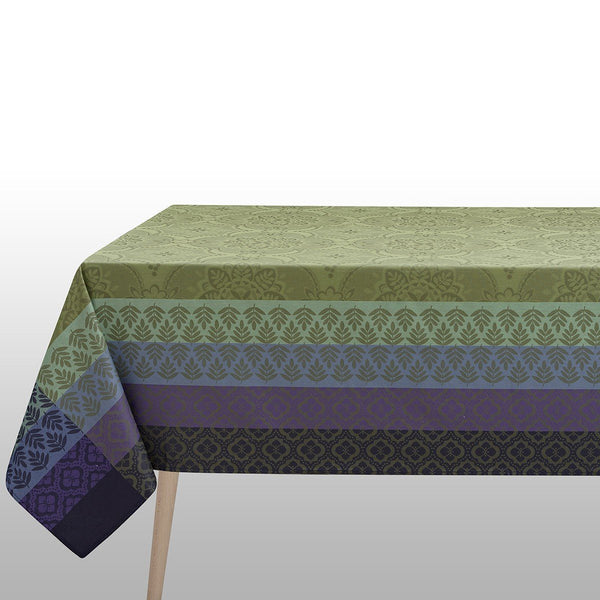 Le Jacquard Francais Coated Table Linens | Bastide Olive | Fig Linens