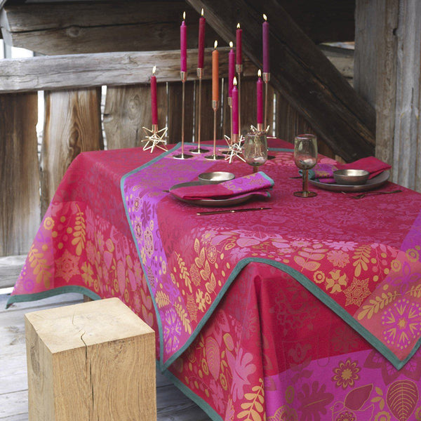 Fig Linens - Le Jacquard Francais Rovaniemi Cranberry Table Linens