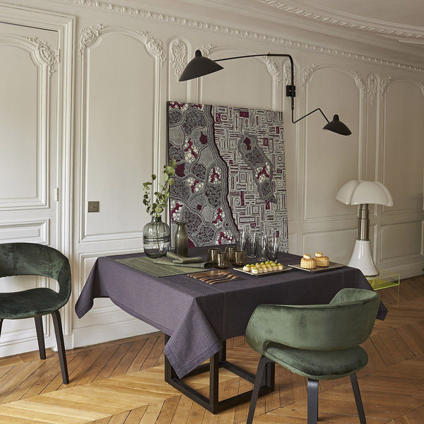 Slow Life Carbon Table Linens by Le Jacquard Français | Fig Linens