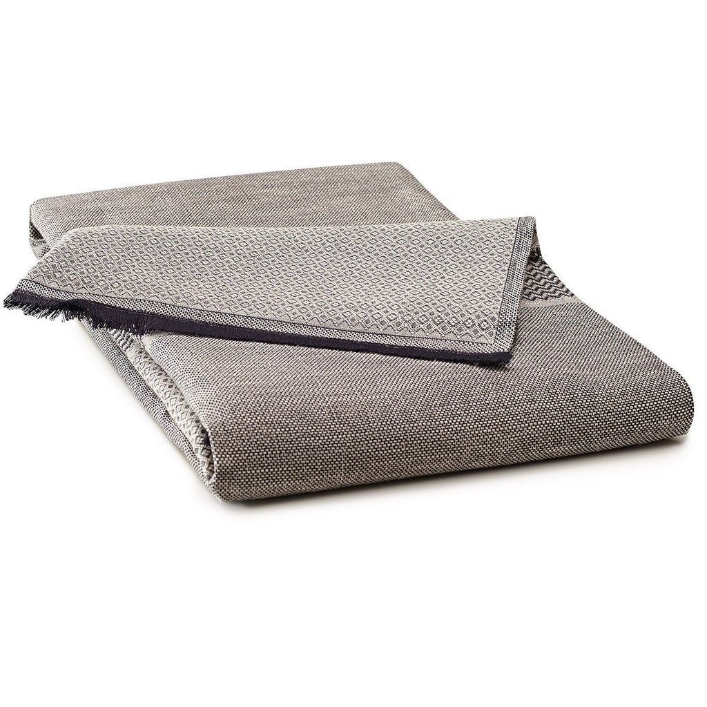 Fig Linens - Le Jacquard Francais Table Linens - Slow Life Clay Fringed Table Throw