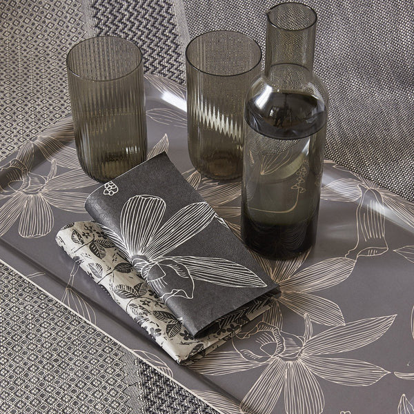 Slow Life Carbon Maxi Table Collection by Le Jacquard Français | Fig Linens