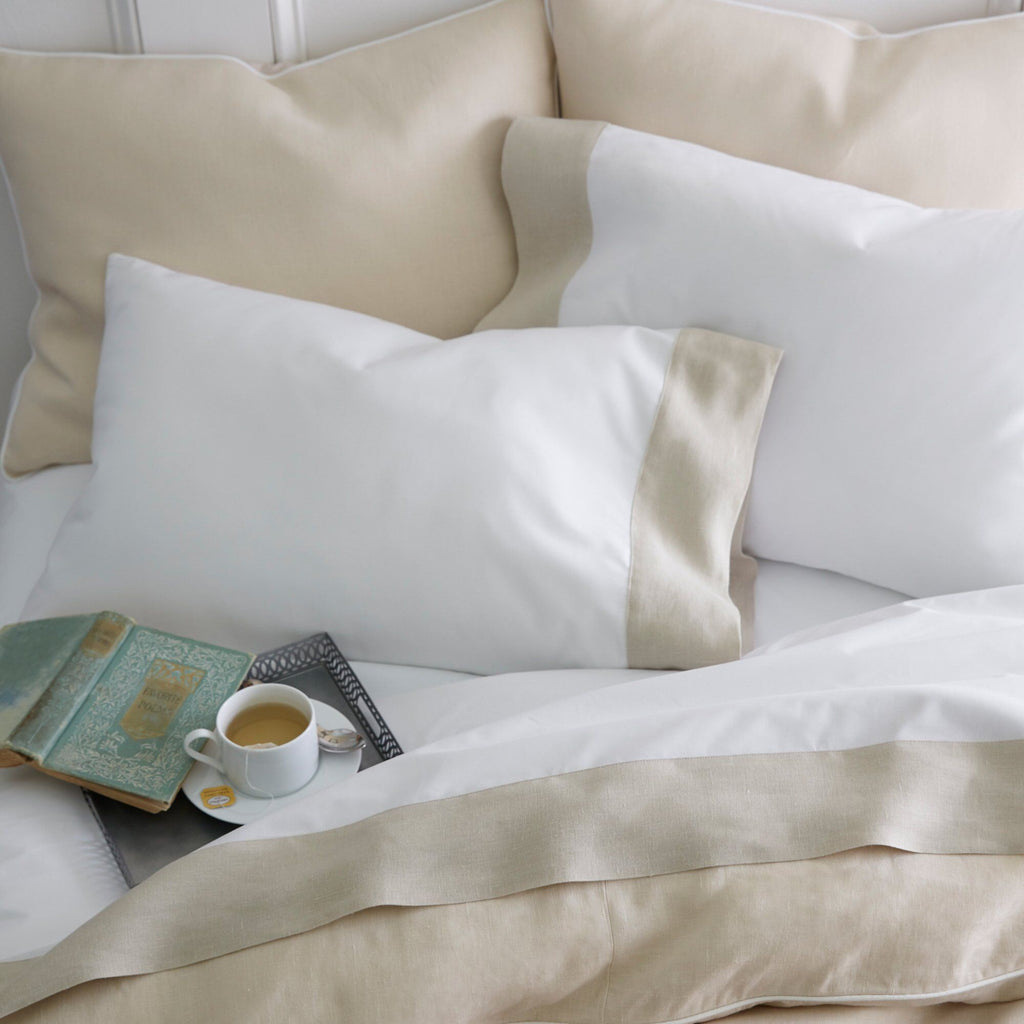 Mandalay Cuff Linen Duvets & Shams by Peacock Alley | Fig Linens