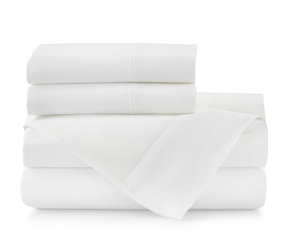Mandalay Cuff White Duvets & Shams by Peacock Alley | Fig Linens