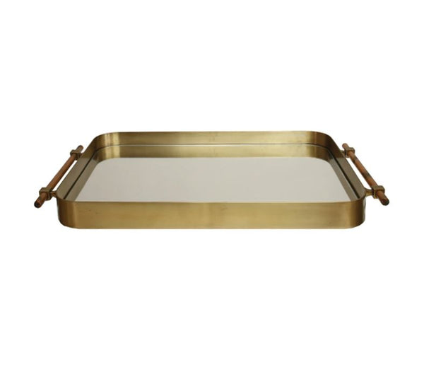 Saratoga Antique Brass Tray by Worlds Away | Fig Linens and Home