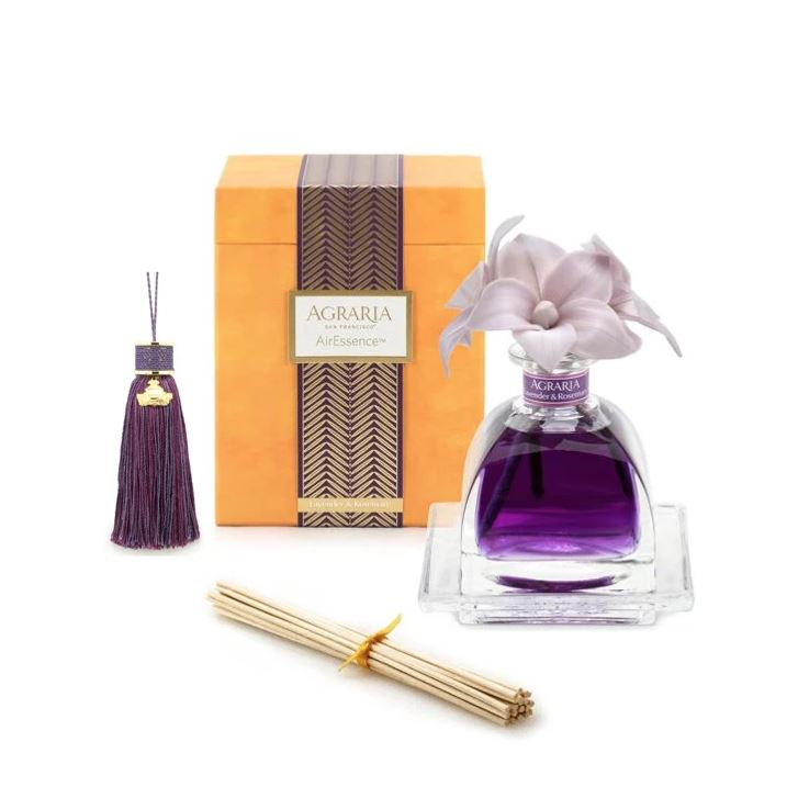 Fig Linens Gifts for Her - Lavender & Rosemary Diffuser & Scented Tassel