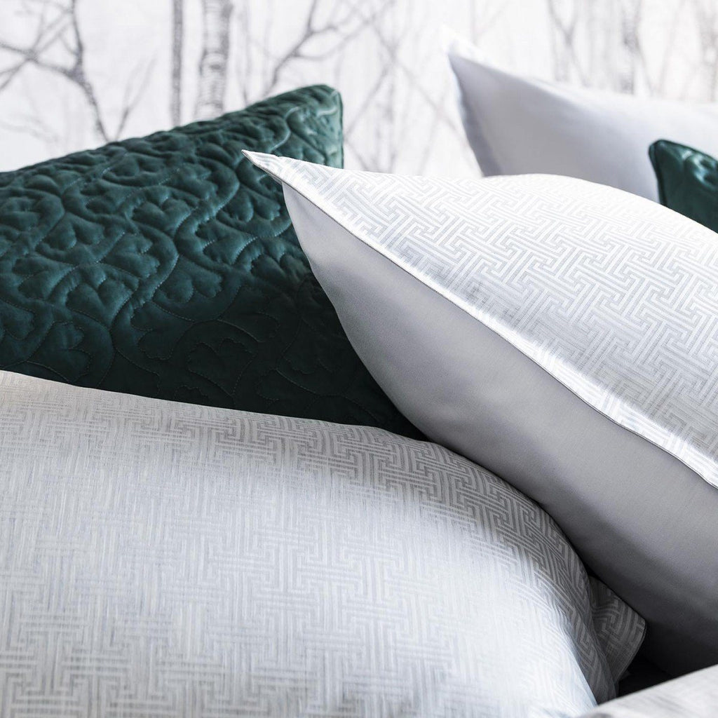 Simple T Platinum Gray Duvet and Shams - Bedding by Alexandre Turpault | Fig Linens and Home