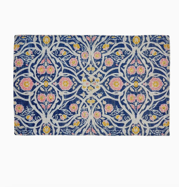 Avela Indigo Outdoor Mat by John Robshaw | Fig Linens