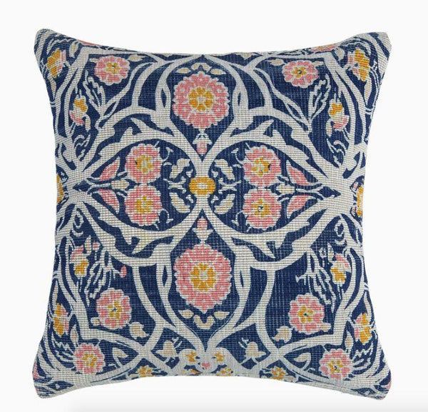 Avela Indigo Outdoor Pillow by John Robshaw | Fig Linens