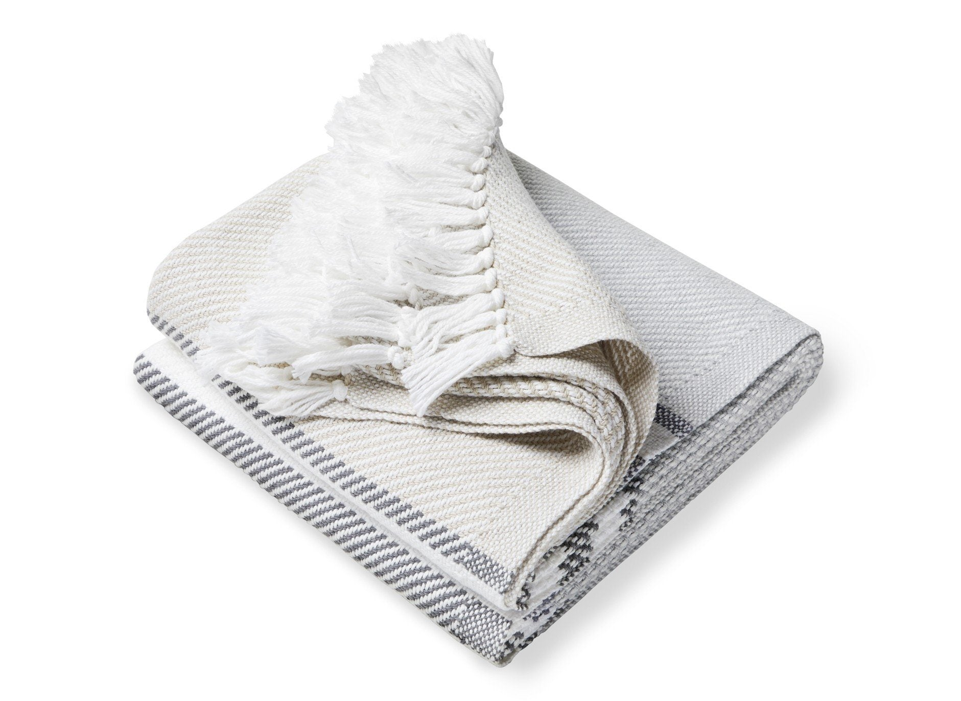 Allagash Dove Gray, Slate & Oyster Throw by Brahms Mount