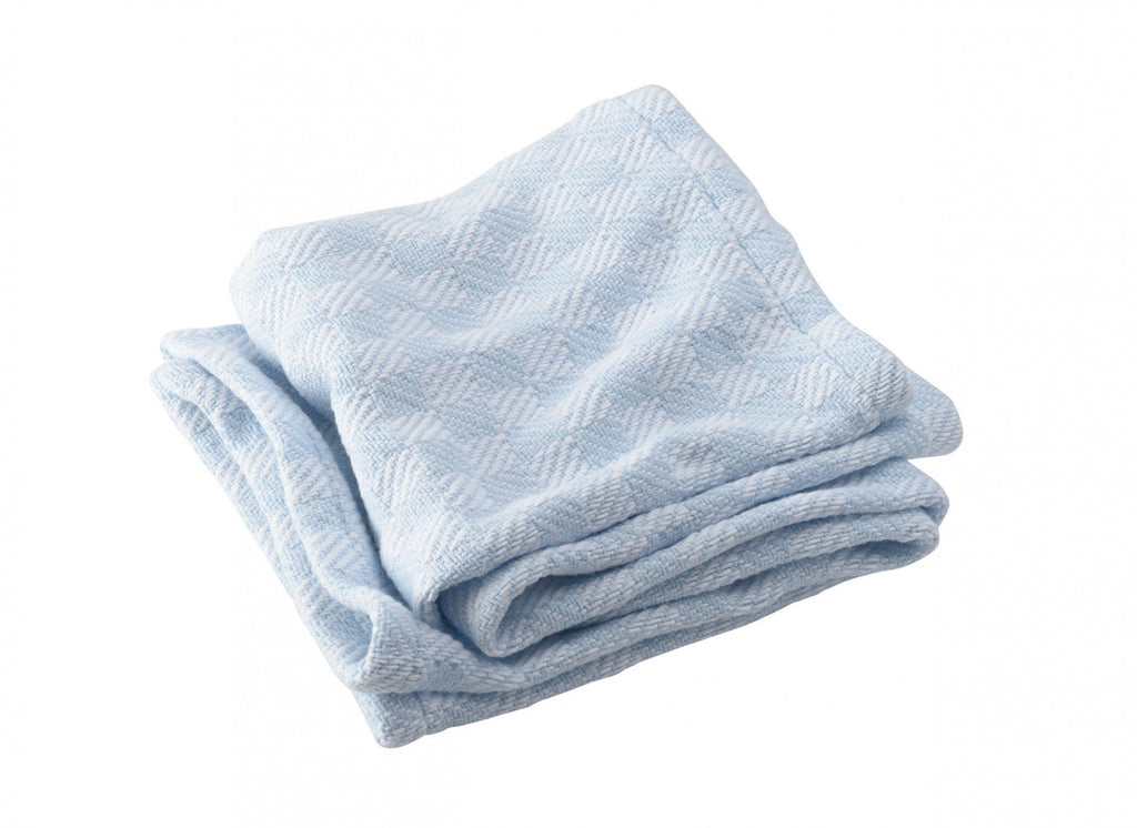 Pogonia Pale Blue Baby Blanket by Brahms Mount | Fig Linens