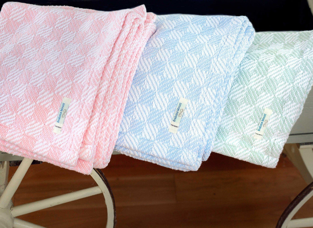 Pogonia Checkered Baby Blanket by Brahms Mount | Fig Linens
