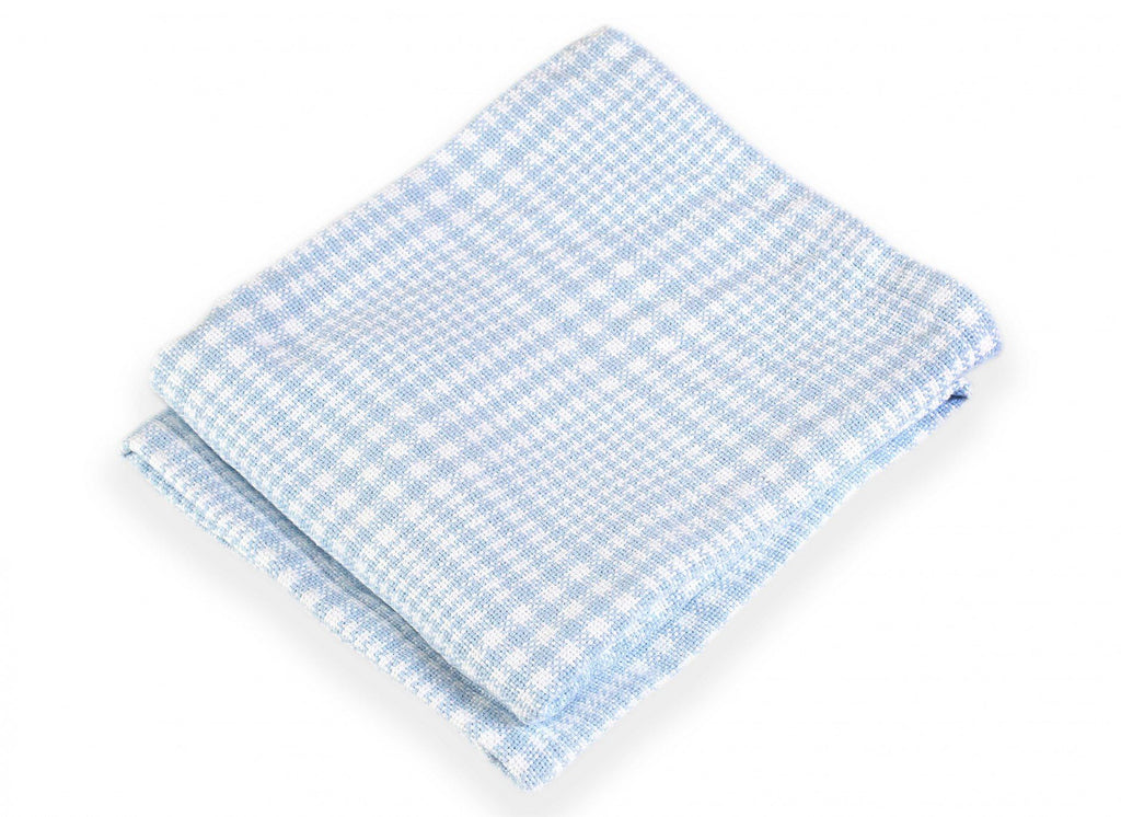 Puffin Pale Blue Baby Blanket by Brahms Mount | Fig Linens
