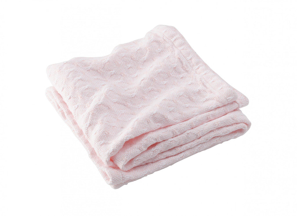 Sandpiper Pale Pink Baby Blanket by Brahms Mount | Fig Linens
