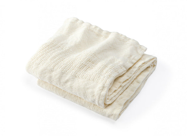 Bradbury Pearl Linen Bath Towels by Brahms Mount | Fig Linens
