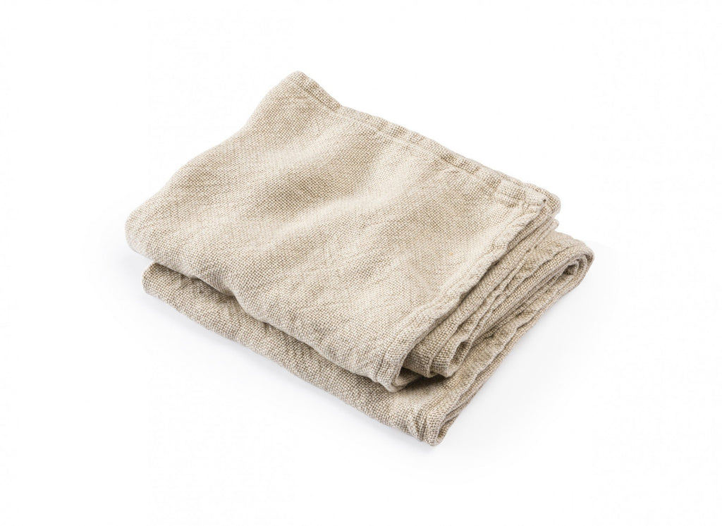 Calendar Island Natural Linen Bath Towels by Brahms Mount | Fig Linens