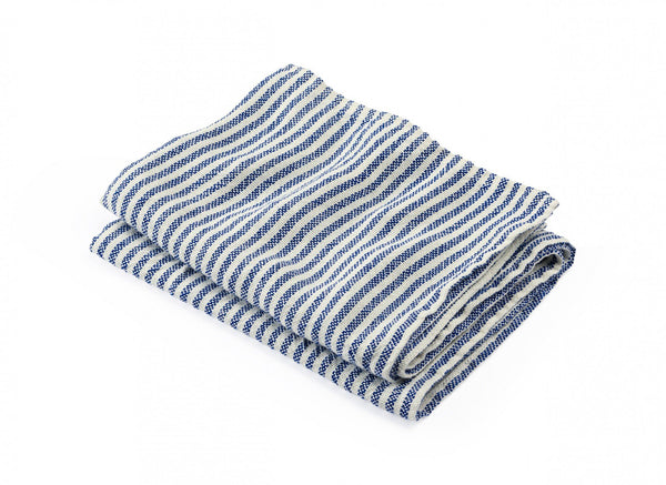 McClary Pearl & Blue Linen Bath Towels by Brahms Mount | Fig Linens