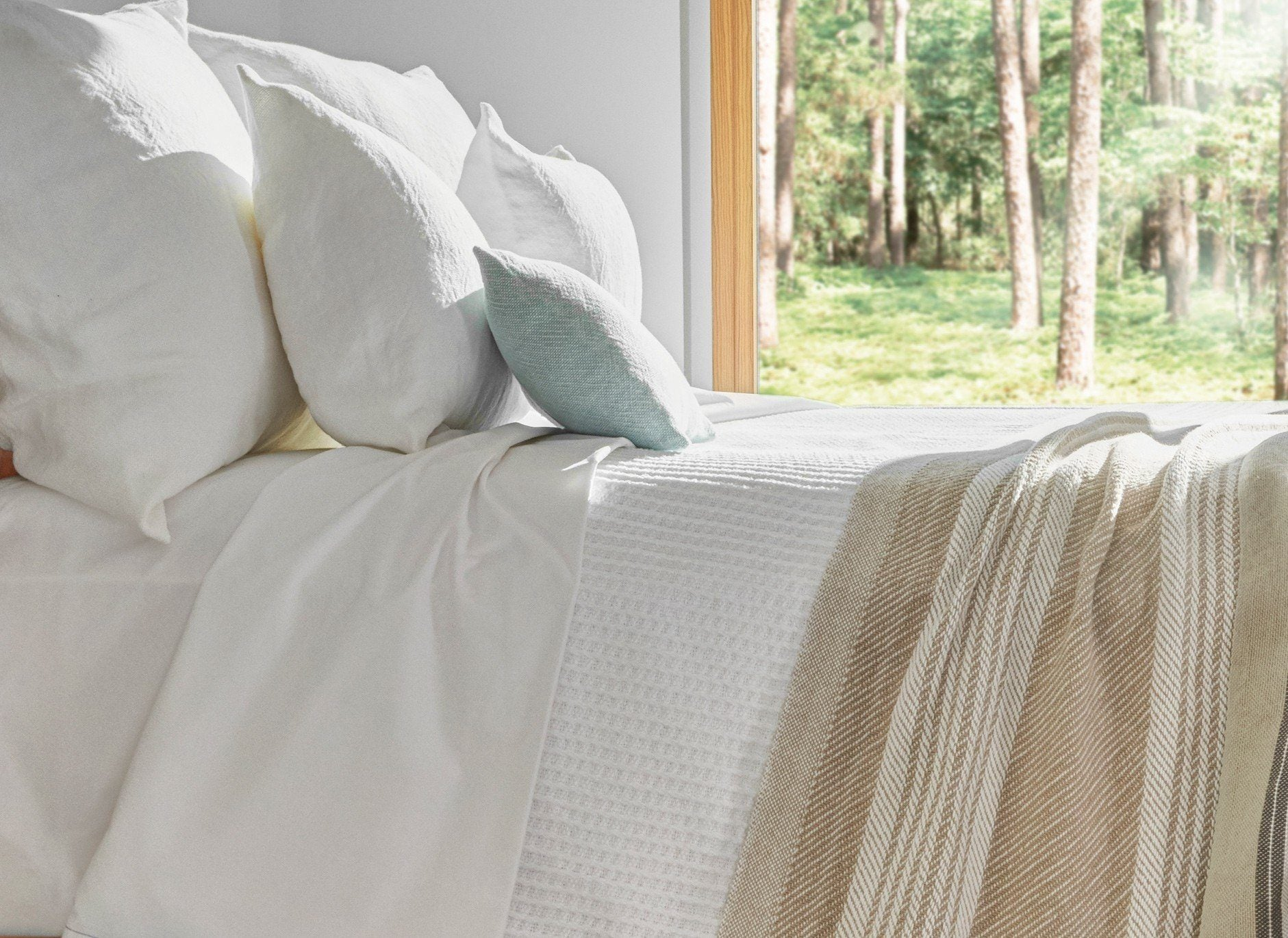 Edgecomb Cotton Blanket by Brahms Mount | Fig Linens and Home