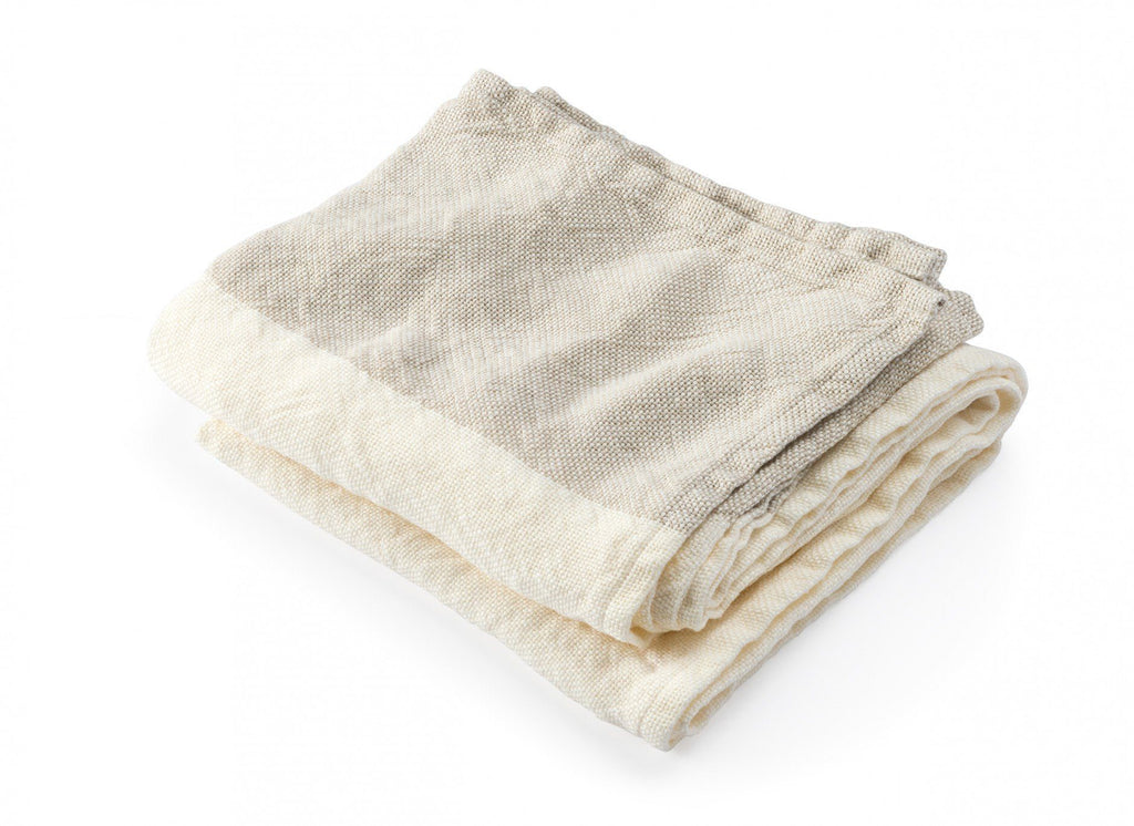 Pearl & Natural Caribou Linen Kitchen Towels by Brahms Mount | Fig Linens