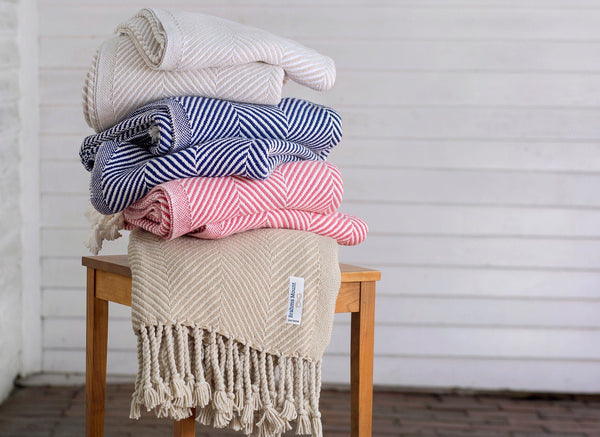 Monhegan Herringbone Throw by Brahms Mount | Fig Linens
