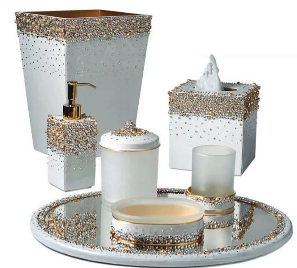 Duchess Pearl Bath Accessories by Mike + Ally