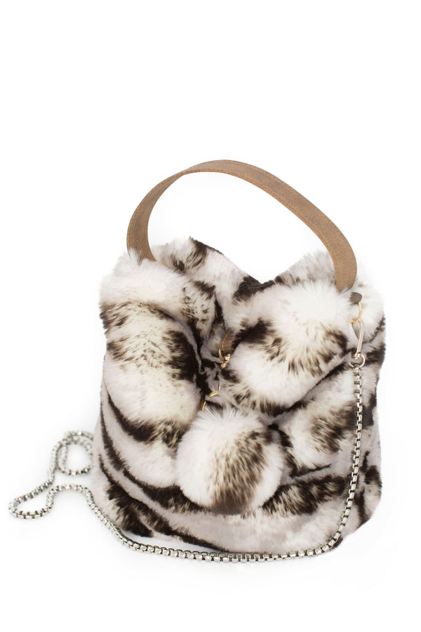 Tiger Faux Fur Bag by Evelyne Prélonge | Fig Linens and Home