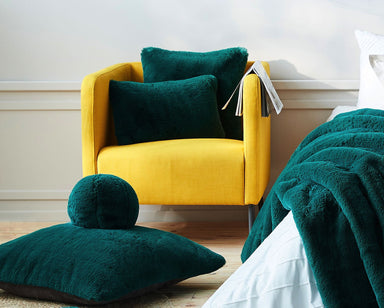 Evelyne Prélonge Faux Fur Collection - Alpine Green Snowball | Fig Linens
