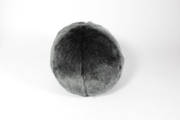 Grey Faux Fur Snowball by Evelyne Prélonge | Fig Linens and Home