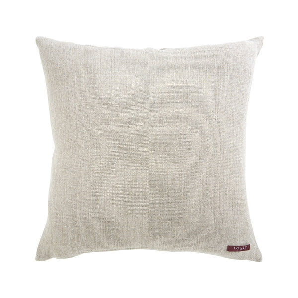 Fig Linens - Berlingot Kaki Decorative Pillow by Iosis - reverse