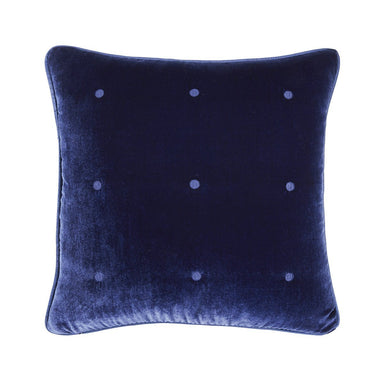 Cocon Marine Velvet Decorative Pillow by Yves Delorme | Fig Linens
