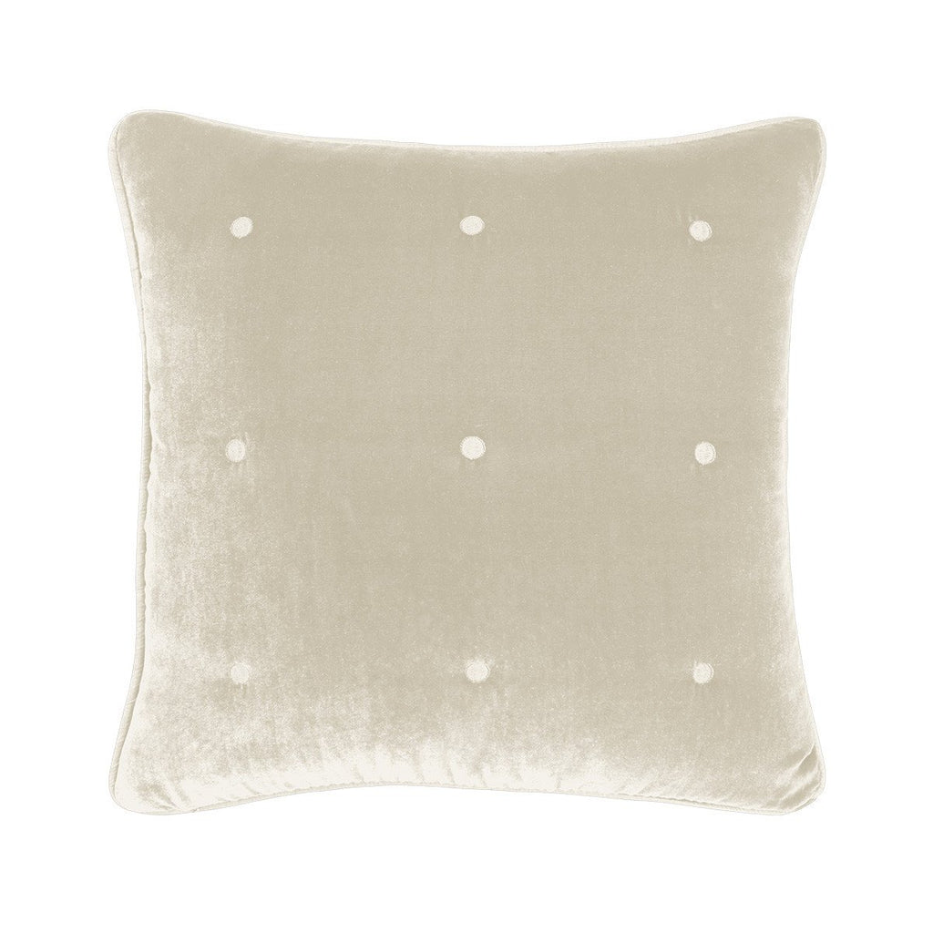 Cocon Pierre Velvet Decorative Pillow by Yves Delorme | Fig Linens