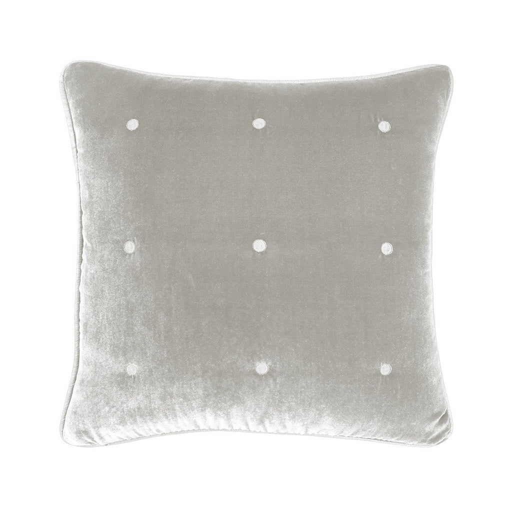 Cocon Platine Velvet Decorative Pillow by Yves Delorme | Fig Linens