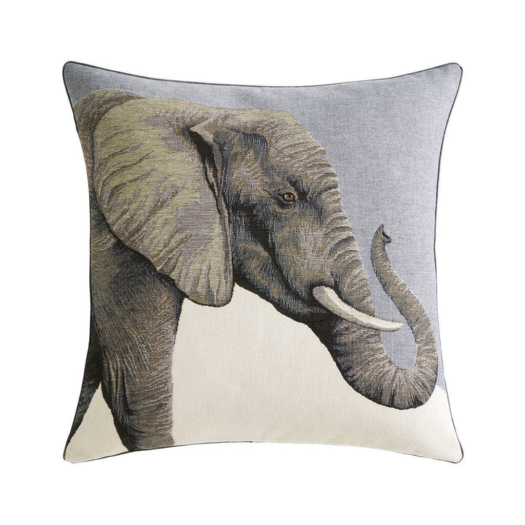 Djumbe Flanelle Decorative Pillow with Elephant by Iosis | Fig Linens