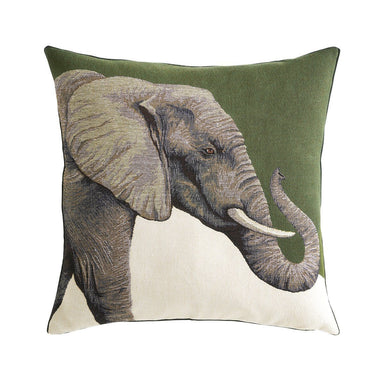 Djumbe Kaki Decorative Pillow with Elephant by Iosis | Fig Linens