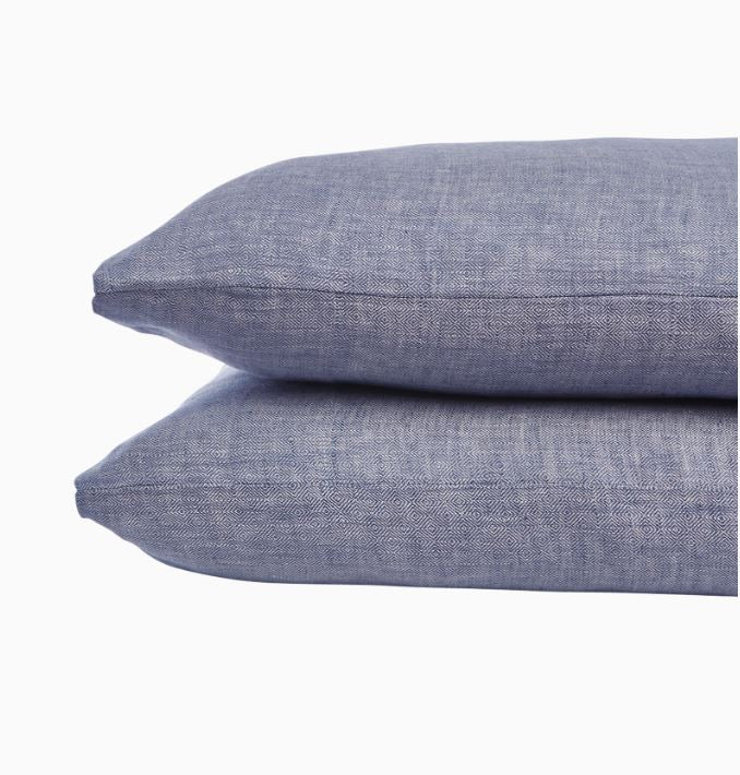Cabatti Indigo Pillowcases by John Robshaw | Fig Linens