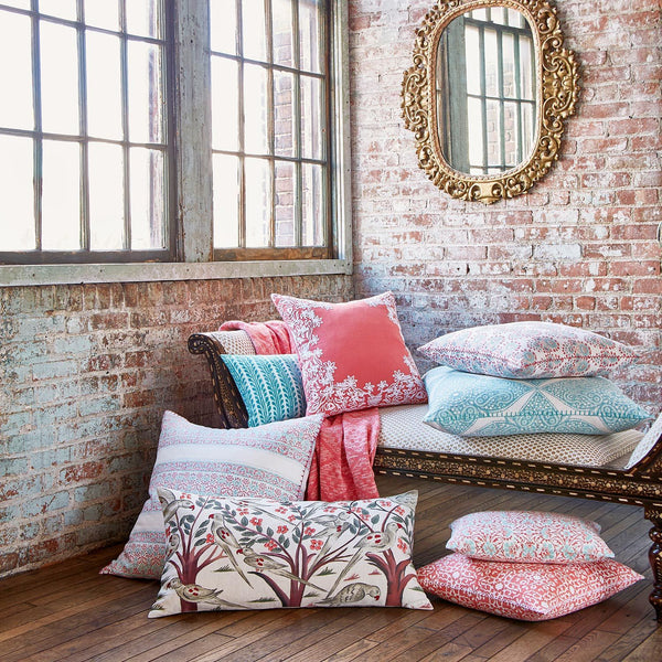 Coral Throw Pillows by John Robshaw | Fig Linens and Home