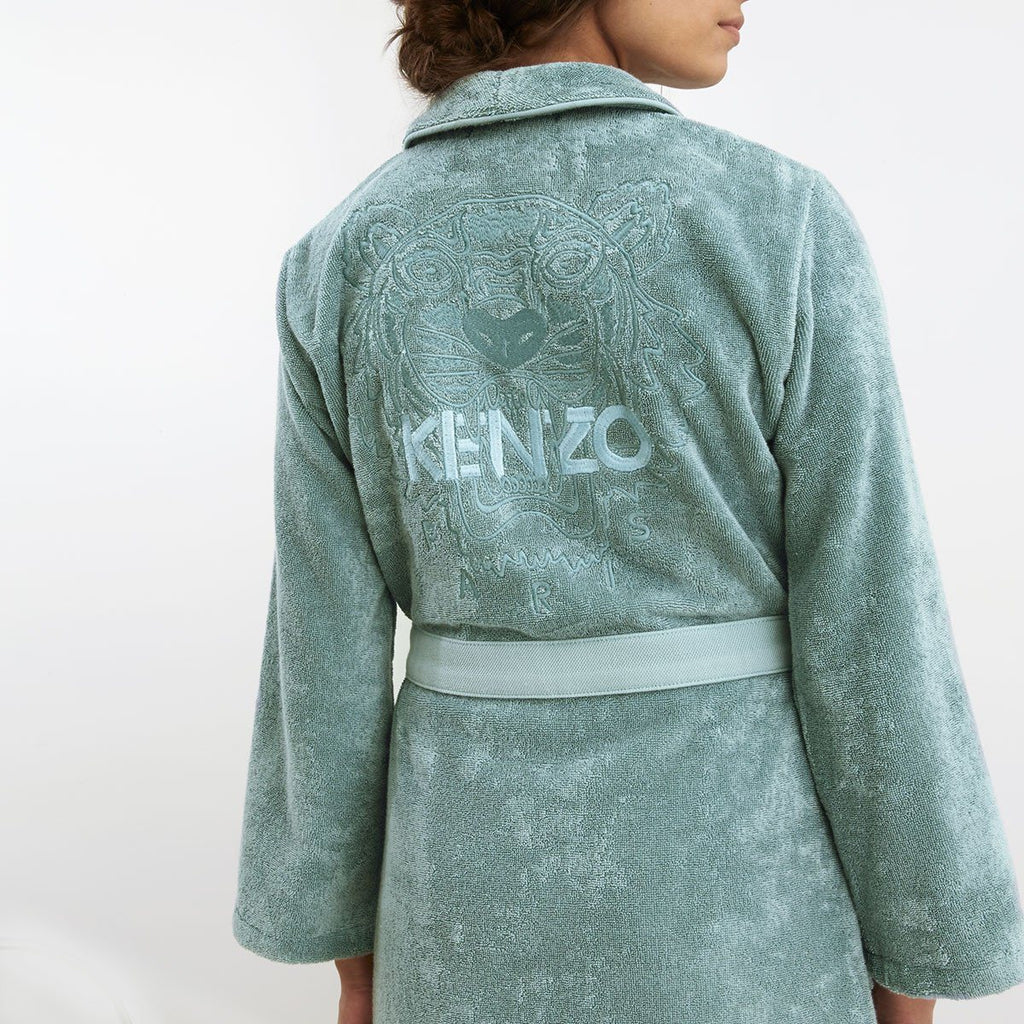 Iconic Igloo Robe with Tiger Embroidery  by Kenzo | Fig Linens