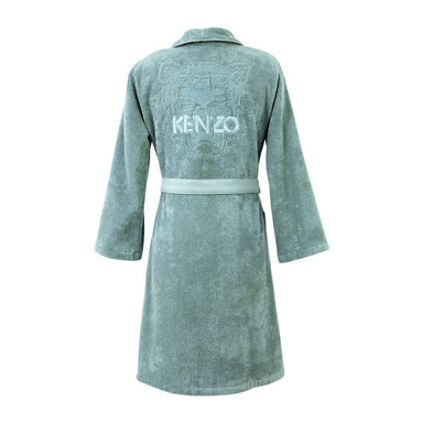 Iconic Igloo Bathrobe with Tiger and Logo Embroidery by Kenzo | Fig Linens