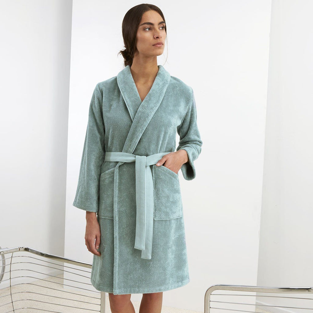 Iconic Igloo Aqua Bathrobe by Kenzo | Fig Linens