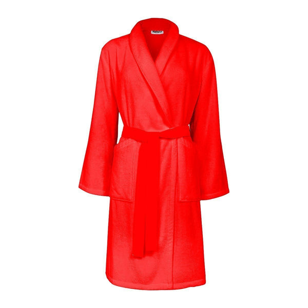 Iconic Rouge Red Bathrobe with Tiger Embroidery by Kenzo | Fig Linens