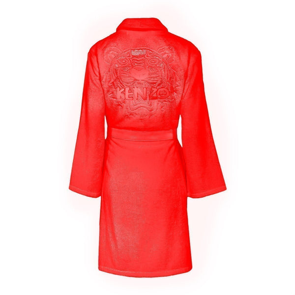 Iconic Rouge Red Bathrobe by Kenzo | Fig Linens
