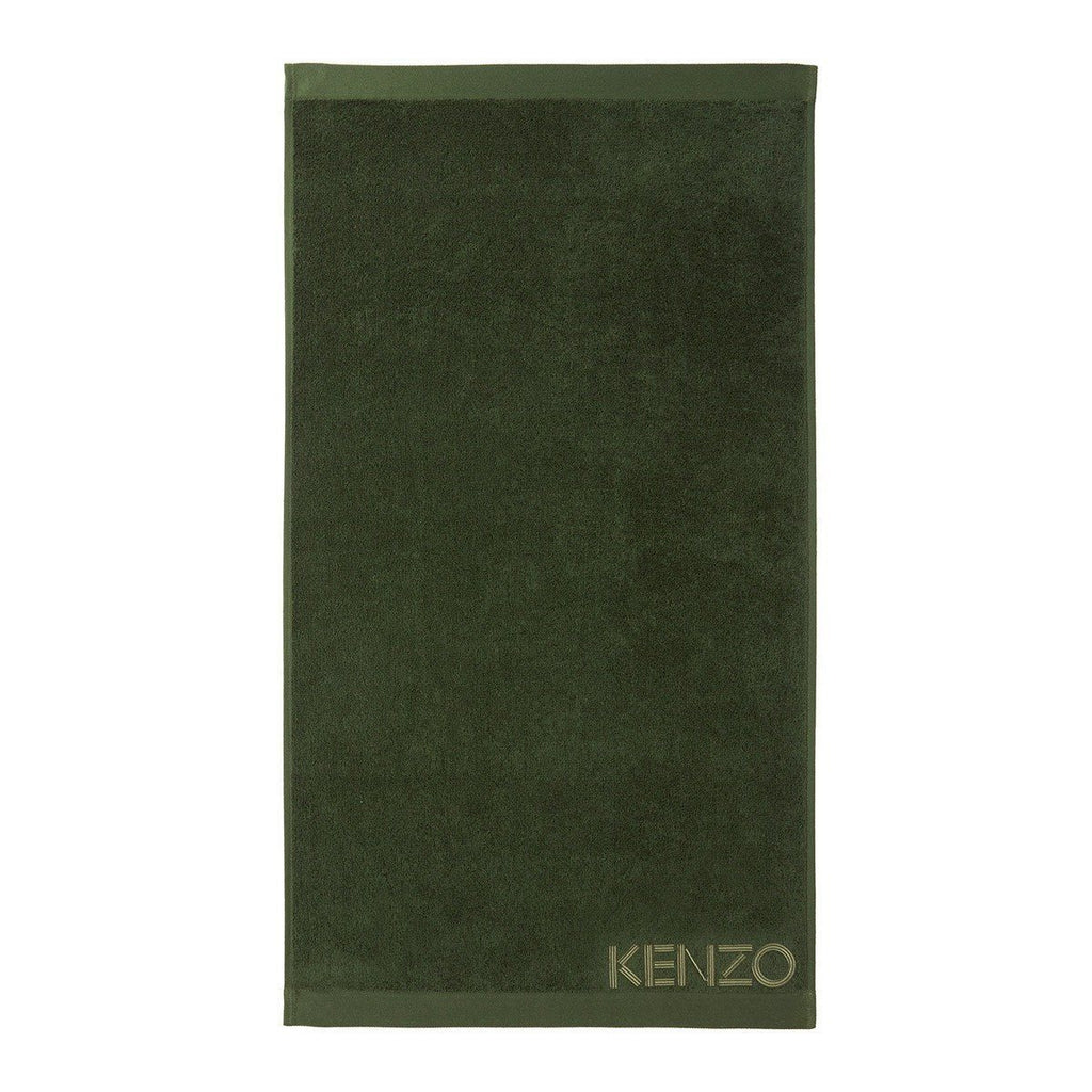 Iconic Kaki Olive Guest Towels by Kenzo | Fig Linens