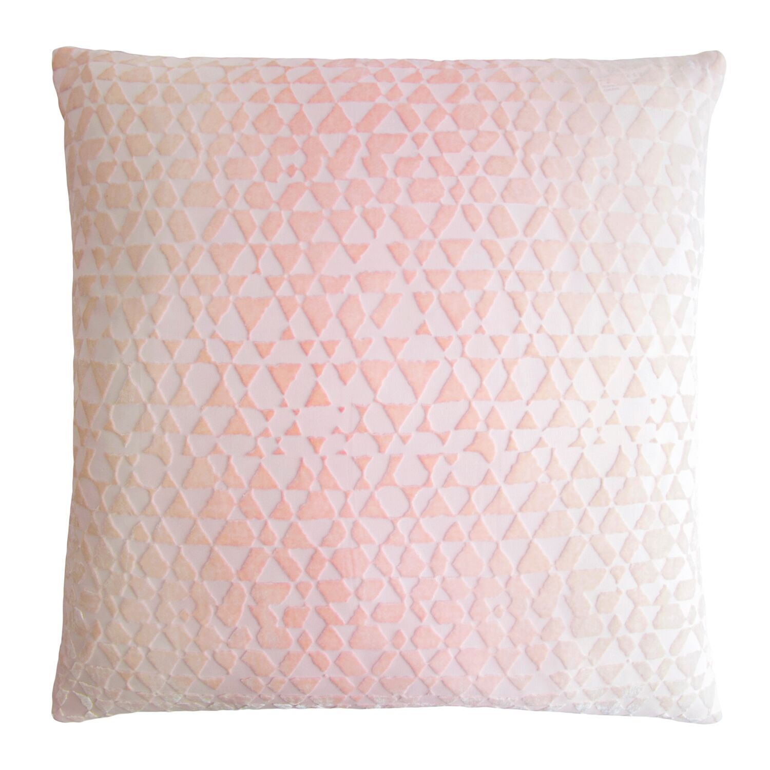 Triangles Blush Velvet Pillows by Kevin O'Brien Studio | Fig Linens