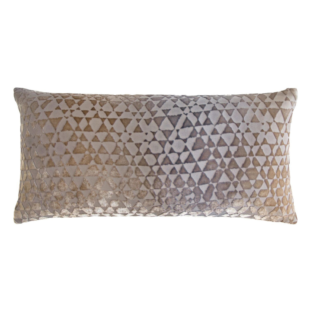 Triangles Coyote Velvet Pillows by Kevin O'Brien Studio | Fig Linens