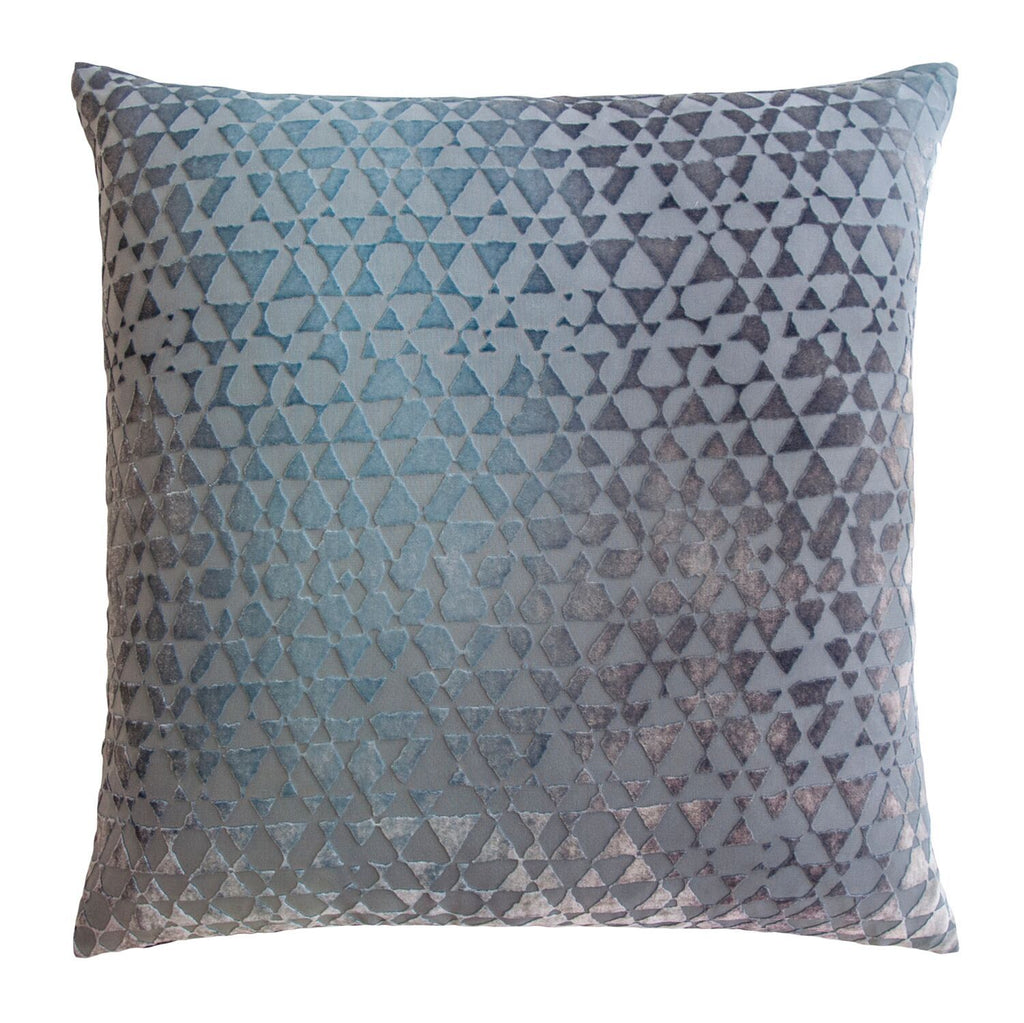 Triangles Dusk Velvet Pillows by Kevin O'Brien Studio | Fig Linens